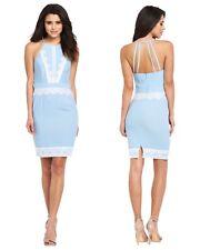 Lipsy 16 Blue with Cream Lace Strappy Midi Dress BNWT.