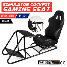 Gaming Seat for PS Xbox Play Station Adjustable Simulator Cockpit Black Racing