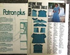 Neuf Super  Patron Couture PATRON PLUS N° 16- ROBE à PLIS T 44-48-52