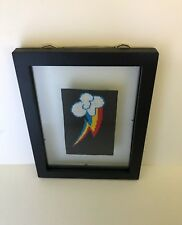Rainbow Dash My Little Pony Cutie Fim Mark Cross Stitch Framed 6 in x 4 in
