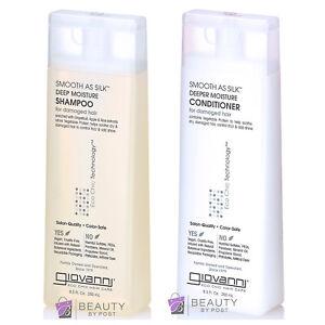 GIOVANNI smooth as silk - deep moisture SHAMPOO & CONDITIONER for damaged hair