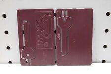 2 NOS Mopar Chrysler Emergency Use Credit Card Blank Key, Maroon, Free US Ship