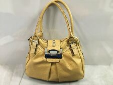 GUESS Tan Brown Shoulder Bag Tote Style Large Double Handles Zip Closure