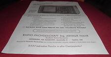 Desván folleto hoja universo 8 tubos publicidad radial publicitarias 1950 Alt
