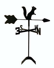 squirrel  weathervane black wrought iron look roof mount made in usa TLS1037RM