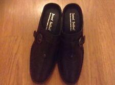 JOSEF SEIBEL BLACK LEATHER WOMEN'S CLOGS. Sz 10 European Comfort Shoes