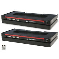 2 x Horizontal Stand 3 USB Hub Officially Licensed for Sony Playstation 3 PS3