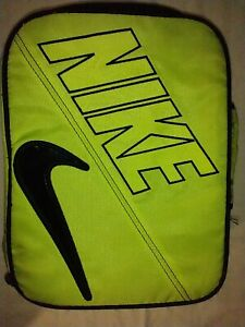 Nike Yellow&Black Insulated Lunchbox, Block Letter/Swoosh Lunch Bag USED