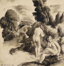 Pierre GANDON(1899-1990)né à L'Haÿ-les-Roses Val-de-Marne Femmes nues nu nude