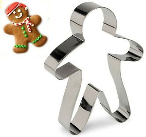 Gingerbread Man Christmas Cookie Cutter Biscuit Pastry Fondant Metal 18cm Mould