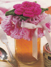 Crochet Pattern ~ BEAUTIFUL FLOWER JAR TOPPER ~ Instructions