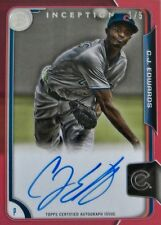 C. J. EDWARDS 2015 IMMACULATE RED CASE HIT AUTO / #1 OF 5 ! HOT
