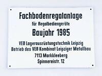 Industrial Design Loft VEB DDR Fabrikschild Metallschild 84x59cm Leipzig 1985