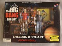 Big Bang Theory Sheldon Cooper & Stuart 2015 SDCC Comic Con Action Figure Set