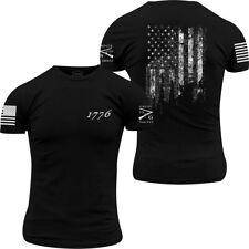 Ворчун стиль 1776 флаг круглый вырез футболка-черный