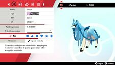 Zacian EVENTO Ultra Shiny 6IV Battle Ready Pokemon Sword Shield Spada Scudo