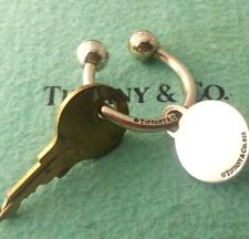 Tiffany & Co. Preowned Sterling Silver 925 Key Ring With Round-Tag Charm