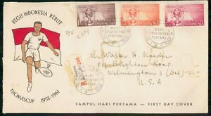 Mayfairstamps Indonesia FDC 1958 Badminton Thomas Cup Combo First Day Cover wwm_