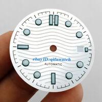 31mm Silver watch Dial Fit eta 2836/2824 2813/3804 Miyota 8215 821A  movement