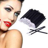 100Pcs Disposable Lip Brush Gloss Lipstick Wands Applicator Brush Makeup Tool z