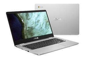"""ASUS C423 14"""" 4GB/64GB Chromebook,14"""" HD Intel Celeron N3350, 4GB DDR4,64GB eMMC"""