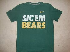NCAA Baylor Bears Green and Gold NIKE Sic' em Bears T Shirt M