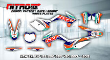 KTM Graphics Kit Decal Design Stickers SX SXF 125 250 350 450 2013-2015 13-15 MX