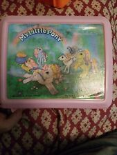 Vintage My Little Pony Aladdin Lunchbox With Thermos Pink 1990