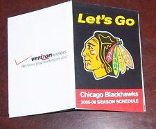 Chicago Blackhawks pocket schedule 2005-2006 Nhl