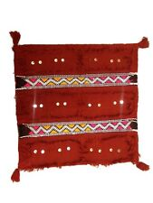MOROCCAN HAND MADE TRADITIONAL BERBER KILIM WOOL CUSHION PILLOW COVER RED 2