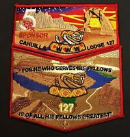 CAHUILLA OA LODGE 127 CALIFORNIA INLAND EMPIRE AC5 ARROWCORPS 5 SPONSOR 2-PATCH