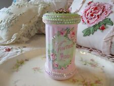 "Shabby Chic Hand Painted Roses - ""Vintage Rose"" Shaker Jar"