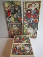 "New Box Of 28 Christmas Cards Lang ""Classic Santa"" Vintage Art By Sherri Baldwin"