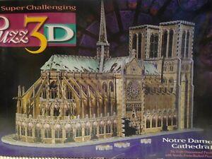 Notre Dame Cathedral Puzz 3D Puzzle Milton Bradley COMPLETE