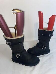 Ugg Australia  Ladies black KENSINGTON BOOTS Size 6.5 uk Ref Ba15