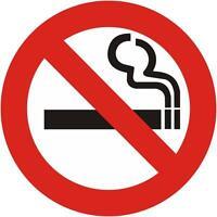 NO SMOKING Sign Decal Removable Wall Window Door Sticker Decor Art Office Mural
