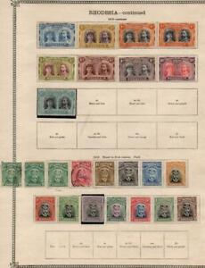RHODESIA: 1910-1913 Examples - Ex-Old Time Collection - Album Page (39835)