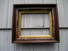 Antique Deep Victorian Carved Eastlake Picture Frame Lovely Gold Gilt Liner 8~10