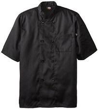 Dickies Chef Jacket L Black Dcp124 Blk Plastic Button Ss Black Uniform Coat New