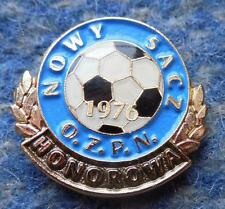 POLAND distr. NOWY SACZ FOOTBALL SOCCER FEDERATION GOLD HONORARY PIN BADGE