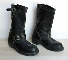 Vintage SEARS Engineer Motorcycle Riding Boots Mens Size 7.5 E Buckle Steel Toe