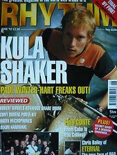 RHYTHM MAGAZINE JUNE 1997 - KULA SHAKER - TERRORVISION - LUIS CONTE
