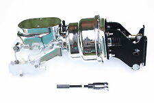 "1967-72 Chevy C10 7"" Dual Chrome Power Brake Booster Kit Side Disc/Drum 776B2"