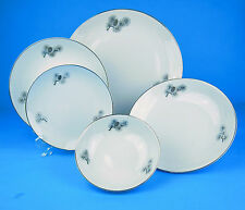 Dinner Salad Bread Plates Soup Dessert Bowls Fukagawa Arita Silver Pine Cone 927