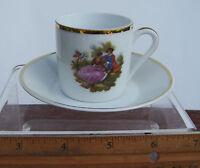 Vintage Limoges Demitasse Teacup & Saucer Made in France