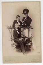 Augusta Viktoria, Kaiserin, Kronprinz Wilhelm und Eitel Vintage silver print.