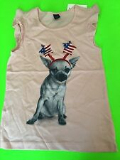 BABY GAP GIRLY PATRIOTIC T INDEPENDENT SPIRIT DOG 5T 5 4TH OF JULY TEE CHIHUAHUA
