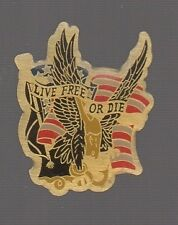pin's aile d'aigle (eagle) / Live free or die (americain)