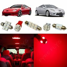5x Red LED lights interior package kit for 2000-2005 Toyota Celica TC6R