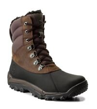 NEW - TIMBERLAND Men's 'RIME RIDGE A1KG1' Brown LEATHER BOOTS. SZ:8.5
